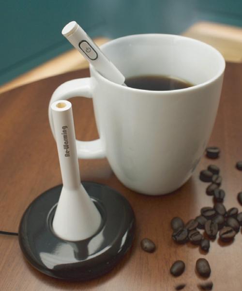 إلكترونية تحافظ القهوة ساخنة