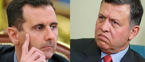 موفد الرئيس السوري يحمل رسالة تهديد والملك يرد : لا نخاف أي تهديد عسكري Image